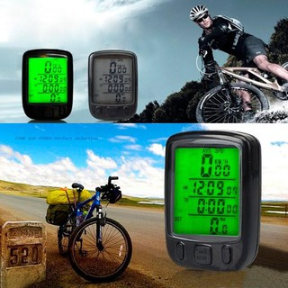 Bicycle Waterproof Backlight Cycling Bike Speedometer Computer Odometer Auto