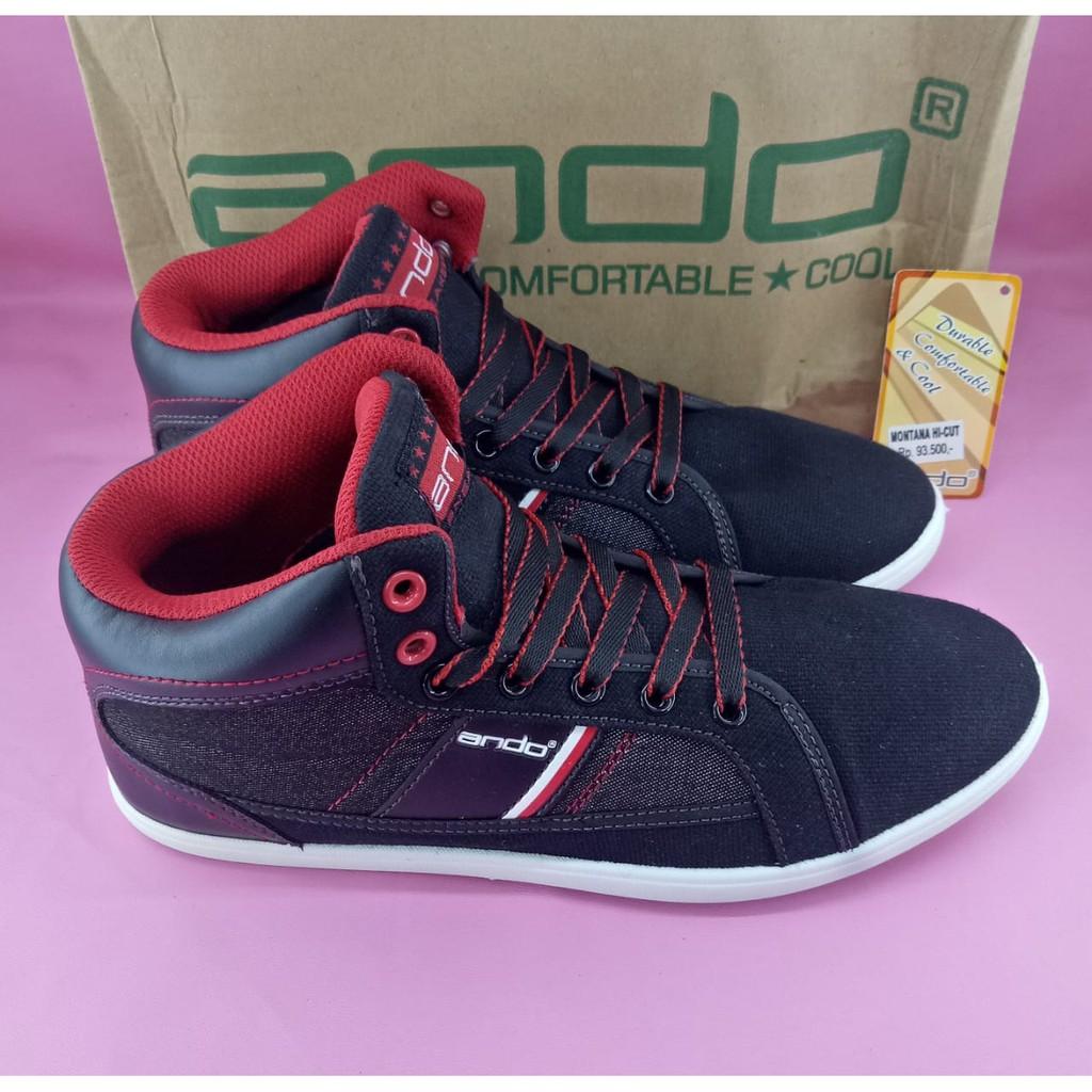 Sepatu Sneakers Pria Ardiles Gevaldo Hitam Merah 38 43 Shopee Men Chicago Putih Indonesia