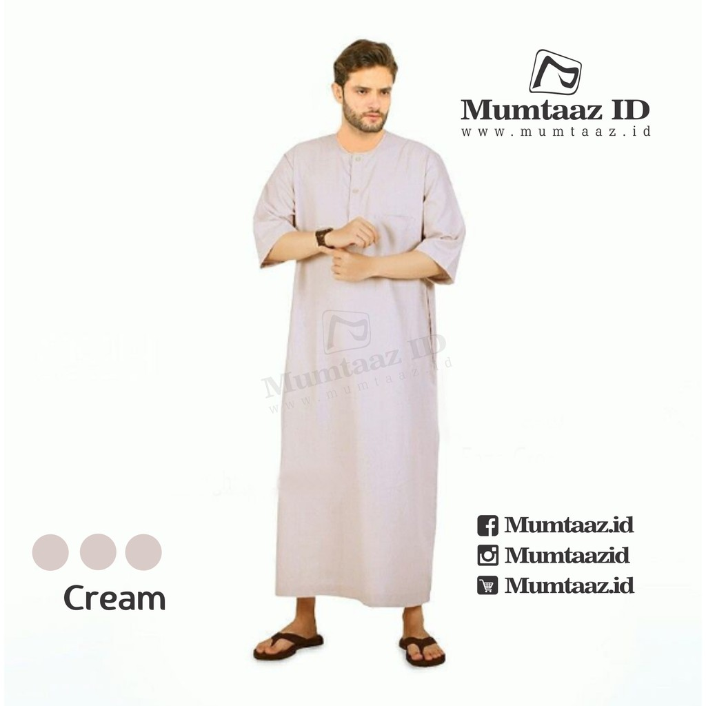 Baju Koko Pria Modern Faza Cream Mumtaaz Id Shopee Indonesia 14