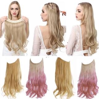 Wig Rambut Palsu Wanita Model Panjang Bergelombang Natural Bahan Sintetis thumbnail