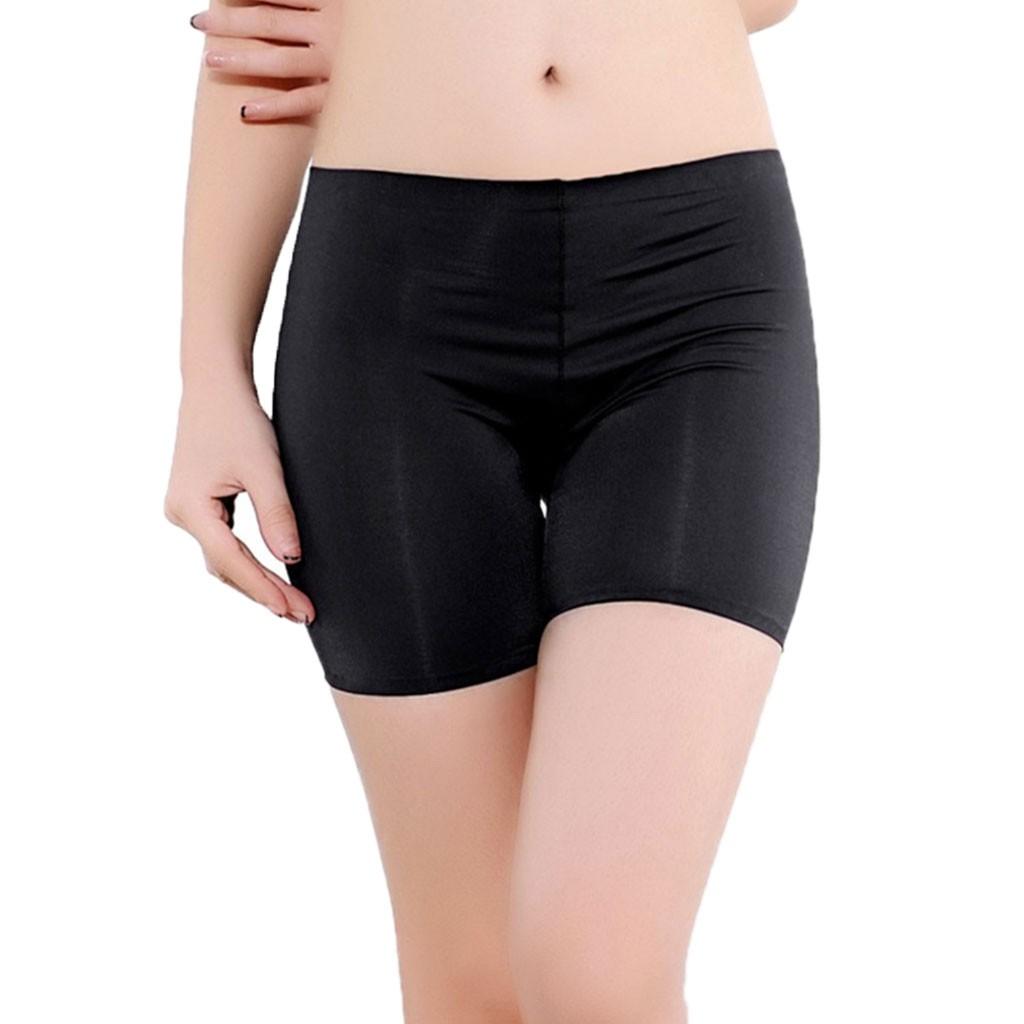 Celana Legging Pendek Wanita Dengan Model Seamless Dan Bahan Sutra Untuk Musim Panas Shopee Indonesia