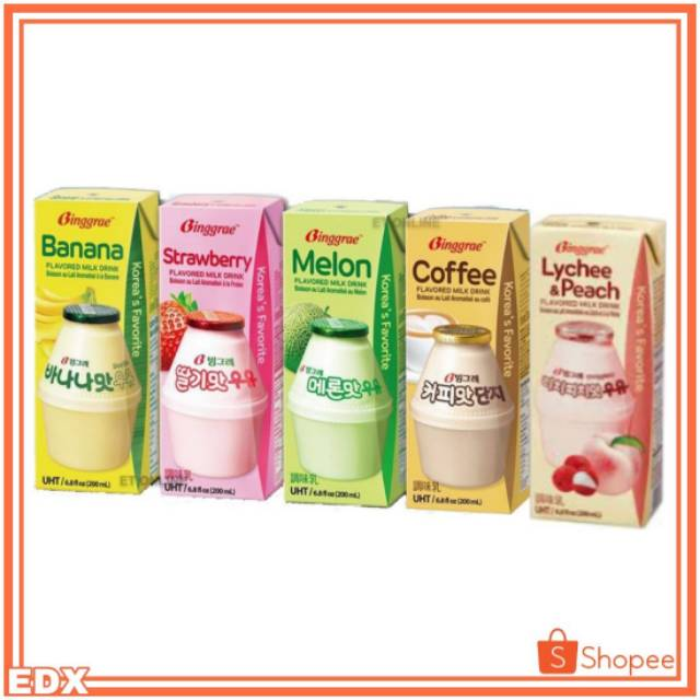Binggrae Flavored Milk Korea 200ml Satuan Shopee Indonesia