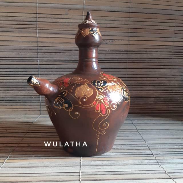 Kendi Air Tradisional Jawa Motif Batik Gerabah Clay Shopee Indonesia