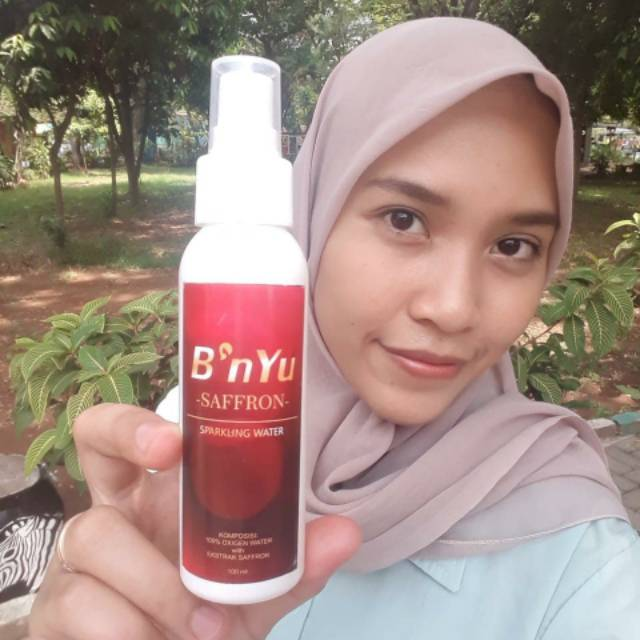 B Nyu Safron Sparkling Water Toner Spray Shopee Indonesia