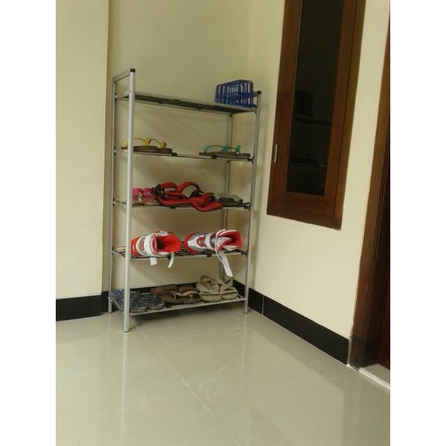 Rak Sepatu Kain Oxford 10 Susun (2Kg)-Rs10 Ox (Black & Gold) Shenar | Shopee Indonesia