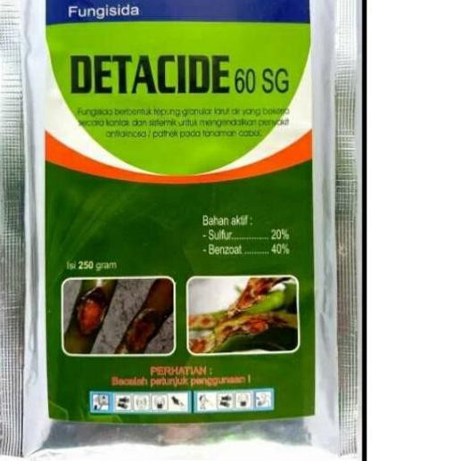 PROMO 11.11 KODE-713 Fungisida DETACIDE 60SG 250gr sulfur & benzoat