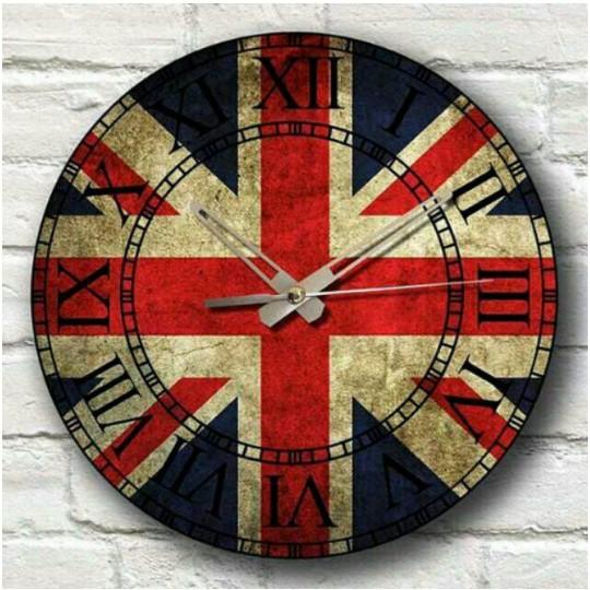 Jam Dinding Unik Vintage London - Jam Kayu - Hadiah Unik -  de0939aae4