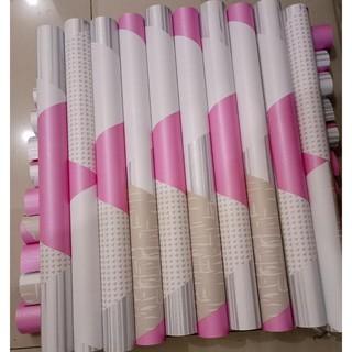 wallpaper sticker geometri abu pink walpaper dinding kamar