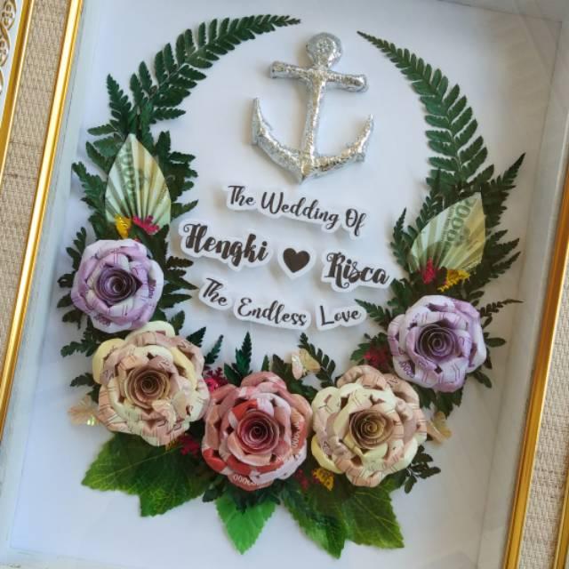 Mahar Pernikahan Souvenir Figura Mahar Mahar Uang Hias Bunga Bouquet Buket Uang X 123 Shopee Indonesia