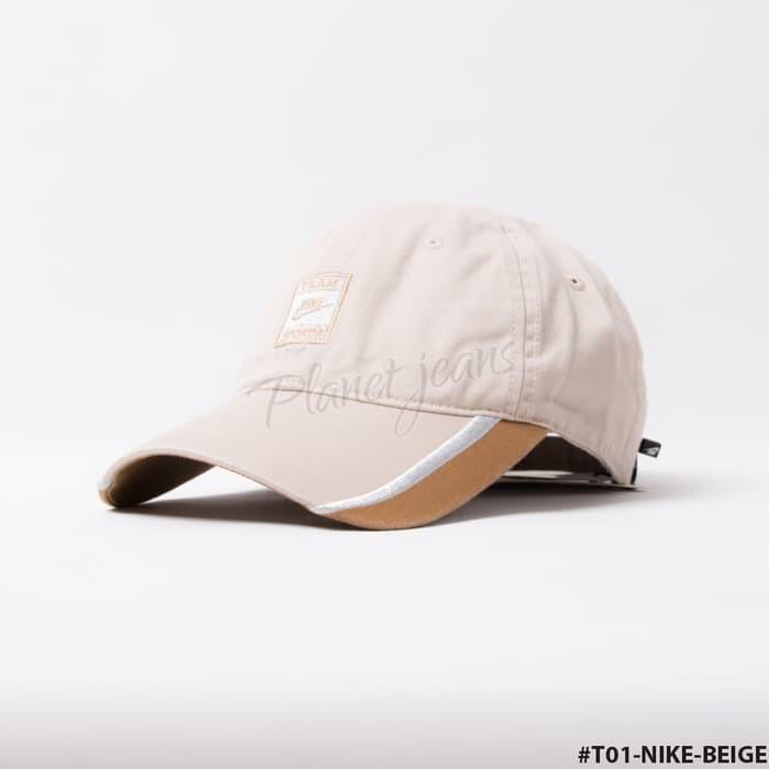 arrives d3bd3 5a4cf Topi Pria Levis Jeans Cream Baseball Cap Cowo Cewek T01 .