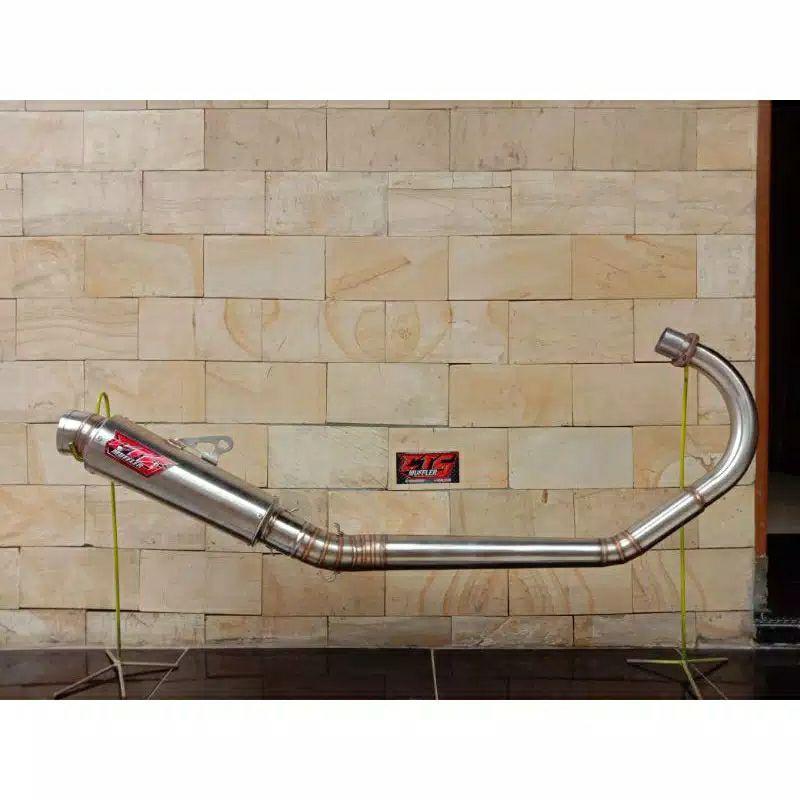 Knalpot CTS Kompetisi CB GL Pro MP Tiger Leher Roll bending paten