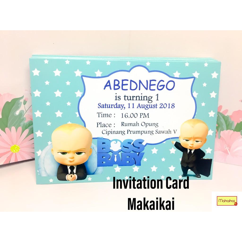 Kartu Undangan Invitation Card Ulang Tahun Anak Baby Boss 4 Buah