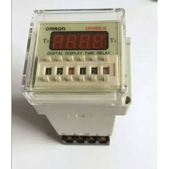 HARGA OKE Omron DH48S-S Digital Timer Precision Delay Time Relay Twin Counter TERPERCAYA | Shopee Indonesia
