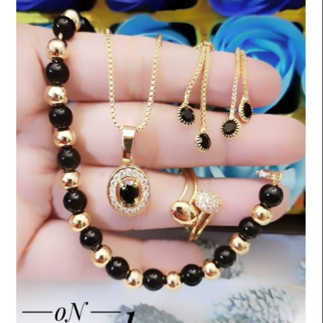 Set Perhiasan Lapis Emas Xuping Gelang Cincin Anting ...
