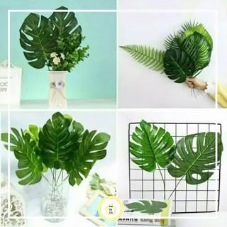 daun monstera / daun estetik philodendron daun artificial