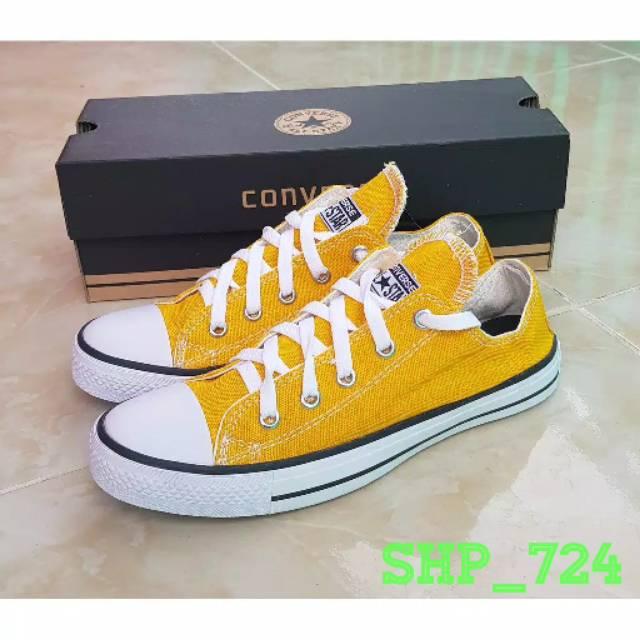 Bisa Cod Sepatu Converse All Star Warna Kuning Shopee Indonesia