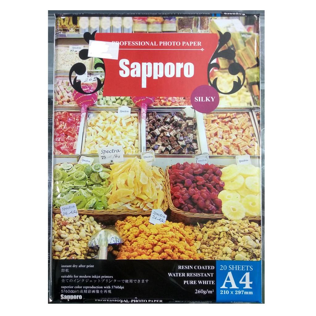 Sun Kertas Professional Photo Paper Silky 265 Gsm A6 Paket Isi 4 Foto Fuji Premium