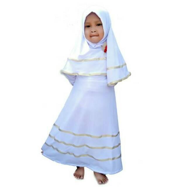 BAJUYULI - Baju Muslim Anak Perempuan Gamis Jersey Marun Peach | Shopee Indonesia