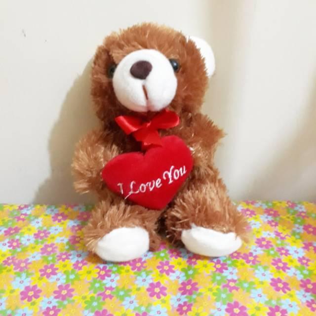Boneka beruang teddy bear love size S  77339135c1