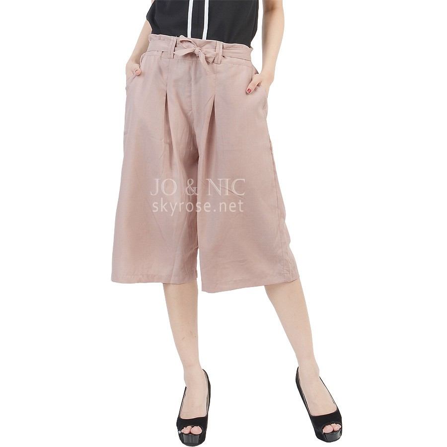 Jo Nic Casual Culottes With Waist Tie Celana Kulot Milo Daftar Midi Nda Fjn822b Lipit Lebar Wanita Fit To Big Size 15 Warna Shopee Indonesia
