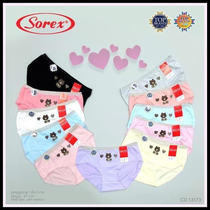 Sorex 1232 | Celana Dalam / CD Midi Wanita Sorex Lembut Nyaman Cewek Toko Kusumawardani | Shopee Indonesia