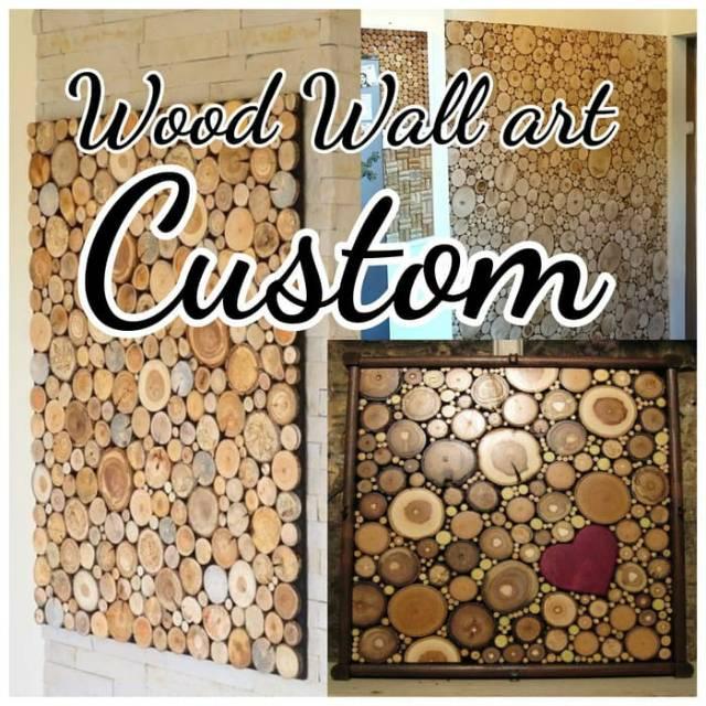 Hiasan dinding Custom Wood wall art Wallpapers Wallsticker Dekorasi