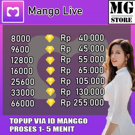 MANGO LIVE - TOP UP MANGO LIVE MURAH - LIVESTREAMING MANGO