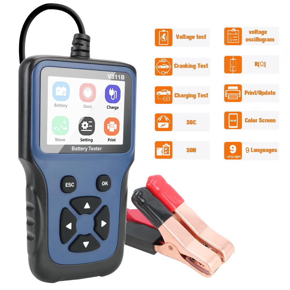 Alat Diagnostik Detektor Tegangan Aki Mobil 12v V311B
