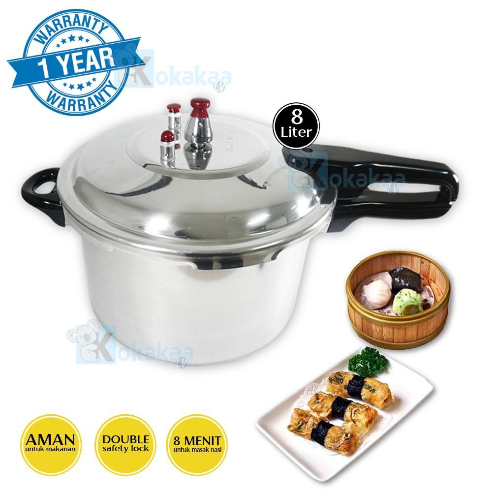 TecStar Panci Presto 24 Cm TP-900 LHSx Capacity 8 Liter Pressure Cooker | Shopee