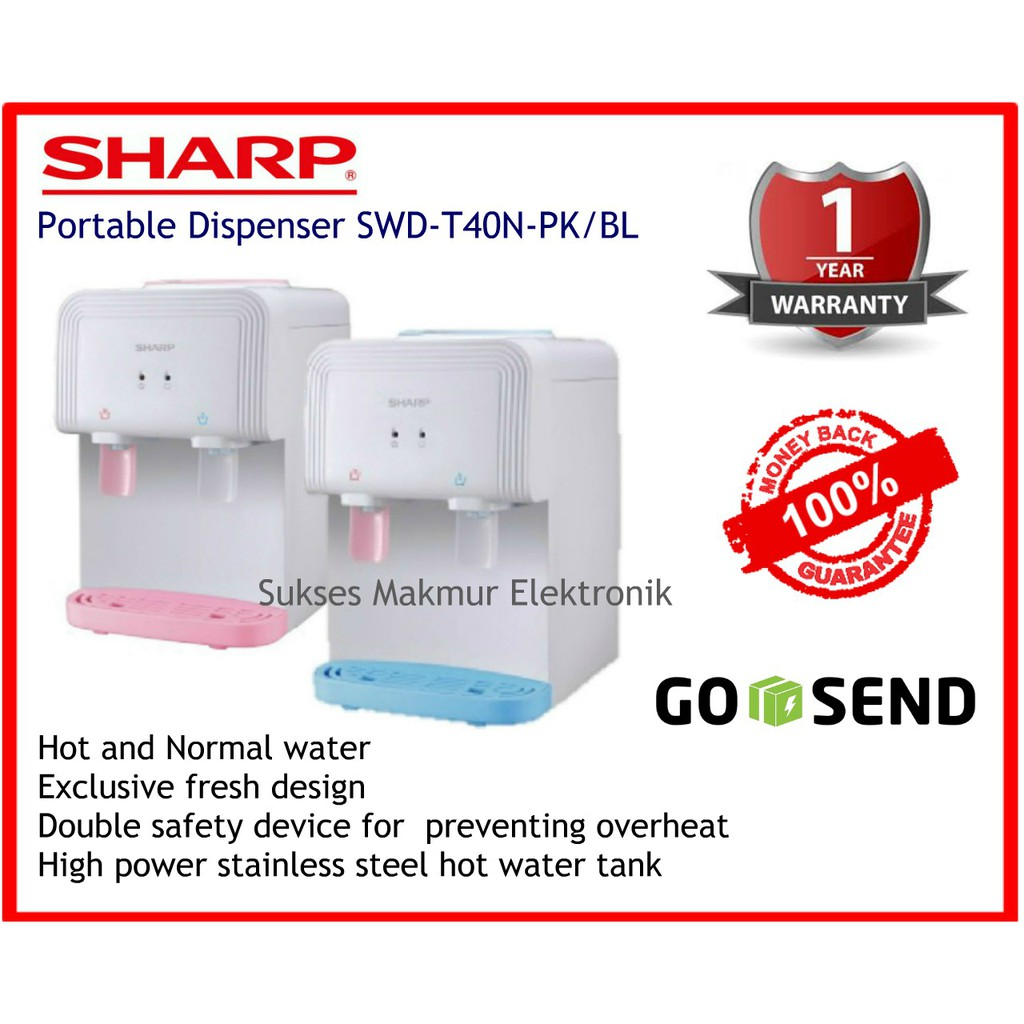 Sharp Dispenser Portable Swd T40n Bl Daftar Harga Terbaru Dan T102ed Wh Putih Top Loading Water 66ehl Bs Hitam Silver Bottom 5 Led