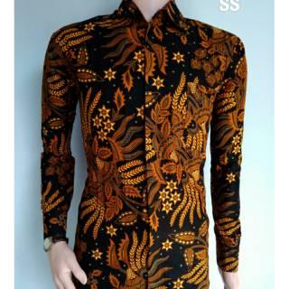 Baju batik kemeja sogan manggar lengan panjang grosir murah fashion atasan  kerja batam tanah abang c3ce515dac