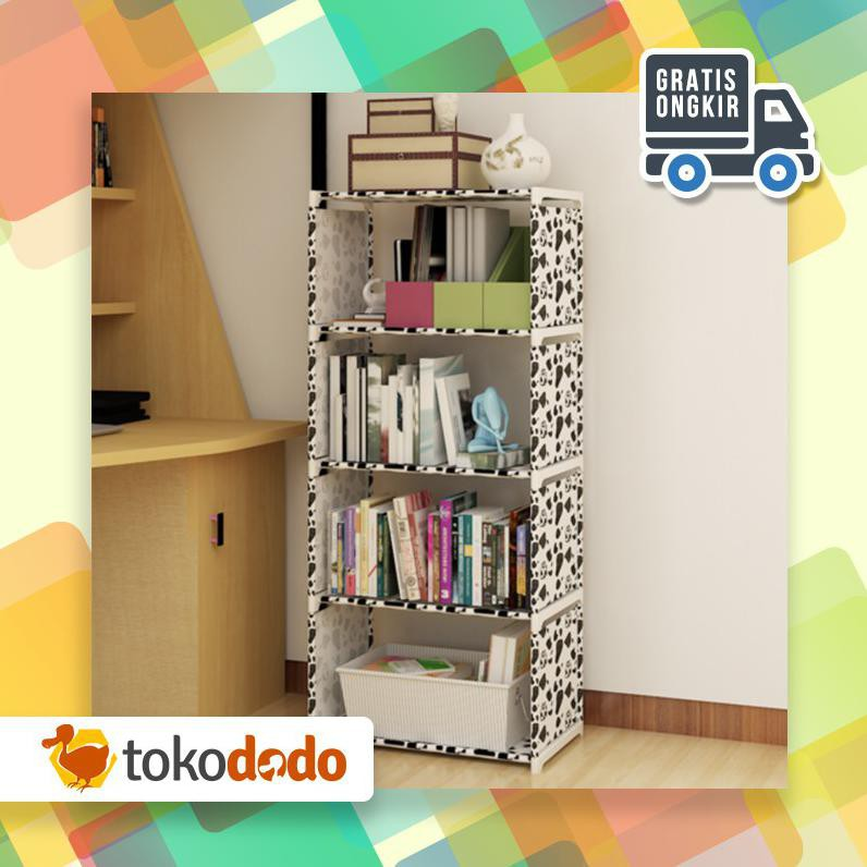 Dodo Rak Buku Portable Triple 3 Sisi Serbaguna 12 Layer 9 Ruang Susun 30.5 X 50.5 X 144 Cm Cpesial | Shopee Indonesia