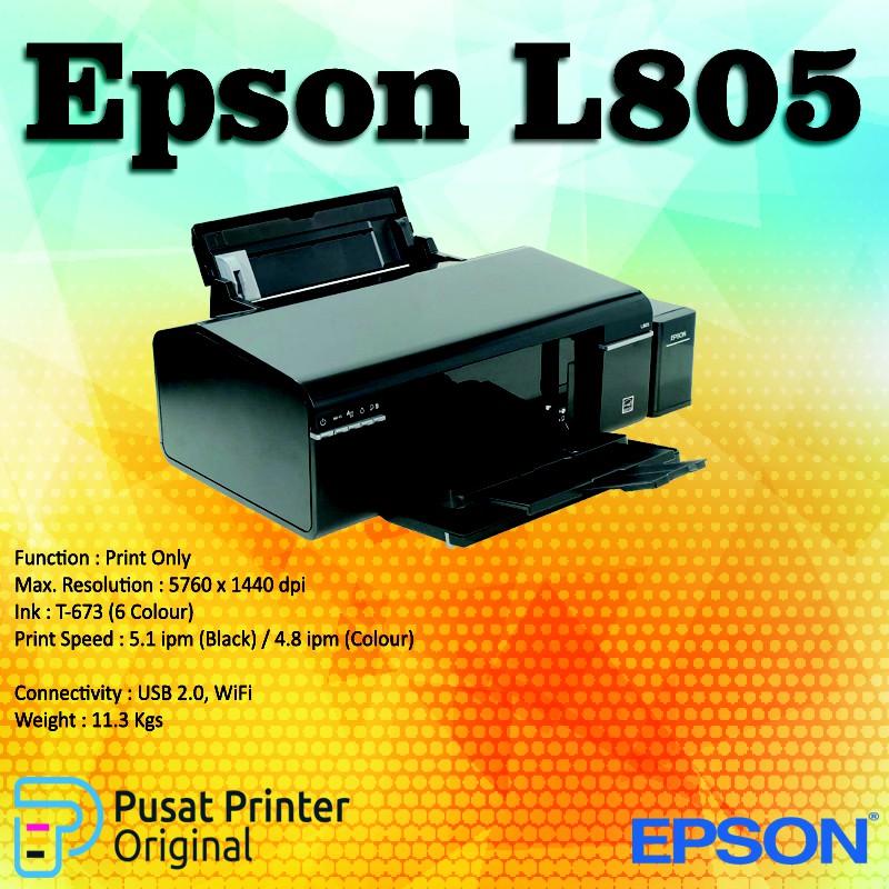 [Garansi Resmi] Printer EPSON L805 Original Inkjet WiFi
