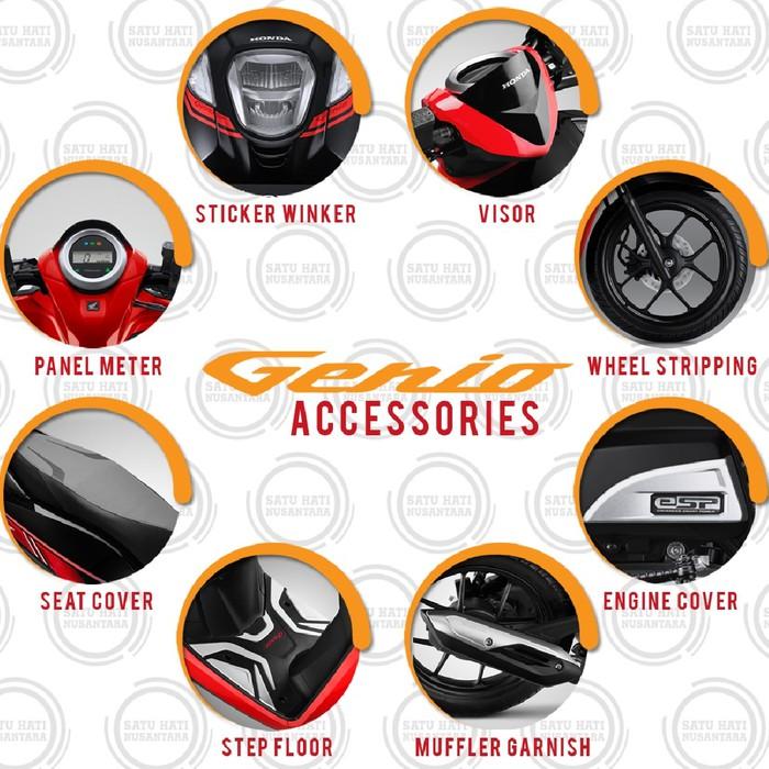 Paket Komplit 8 Item Aksesoris Resmi Ahm Untuk Honda Genio Shopee Indonesia