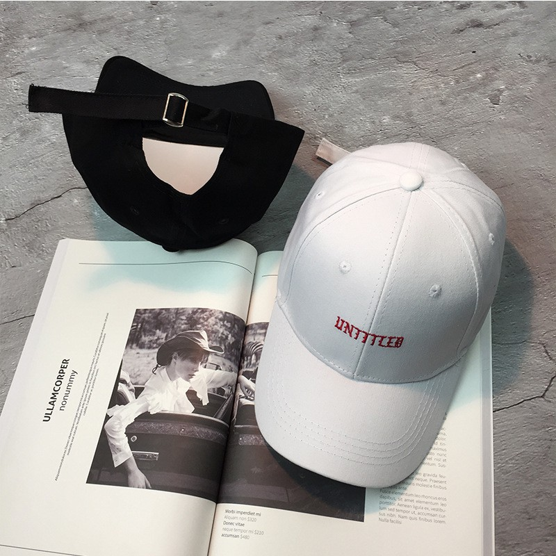 Topi Baseball Motif Bordir Tulisan Warna Putih Ala Korea untuk Wanita  f98e891309