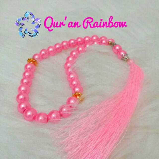 Tasbih Cantik Pink Mutiara Warna Warni Custom Shopee Indonesia