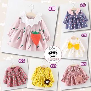 9-12-24-36-48-5thn Dress Gaun Bayi Anak perempuan