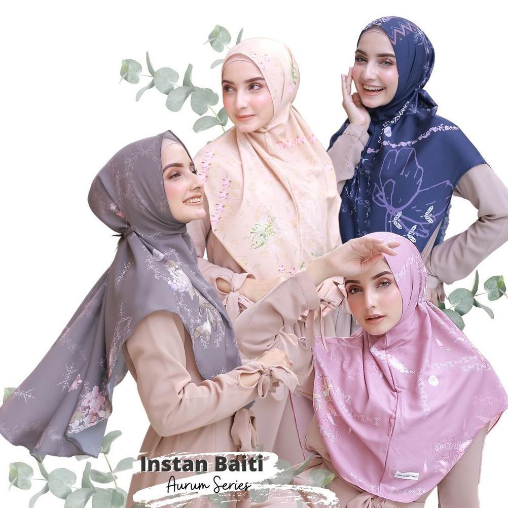 Hijabwanitacantik - Instan Baiti Aurum | Hijab Instan | Jilbab Instan .