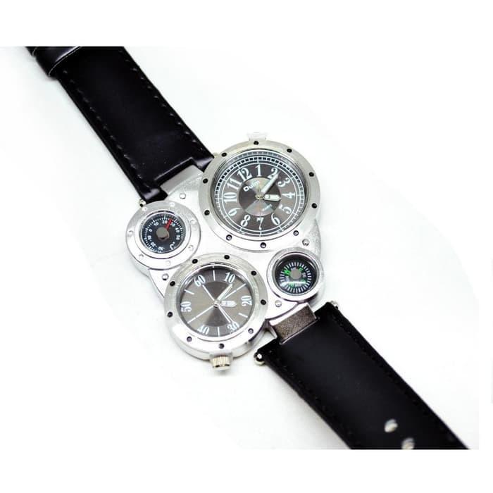 QQ-col.143366 Jam Tangan Pria Kulit Original Oulm Kompas Ometer Anti Air  Asli 4cd1b8884f