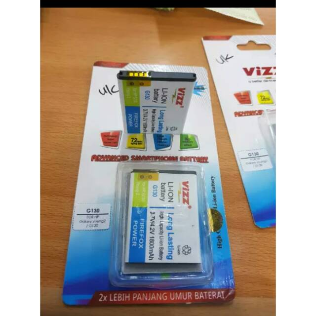 BATRE BATERAI BATTERY DOUBLE POWER VIZZ SAMSUNG I8150 S5690 W689 S5820 GALAXY WONDER ORIGINAL | Shopee
