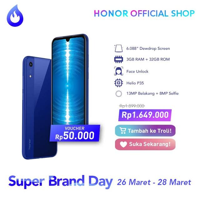 Honor Super Brand Day - Spesifikasi Honor 8A