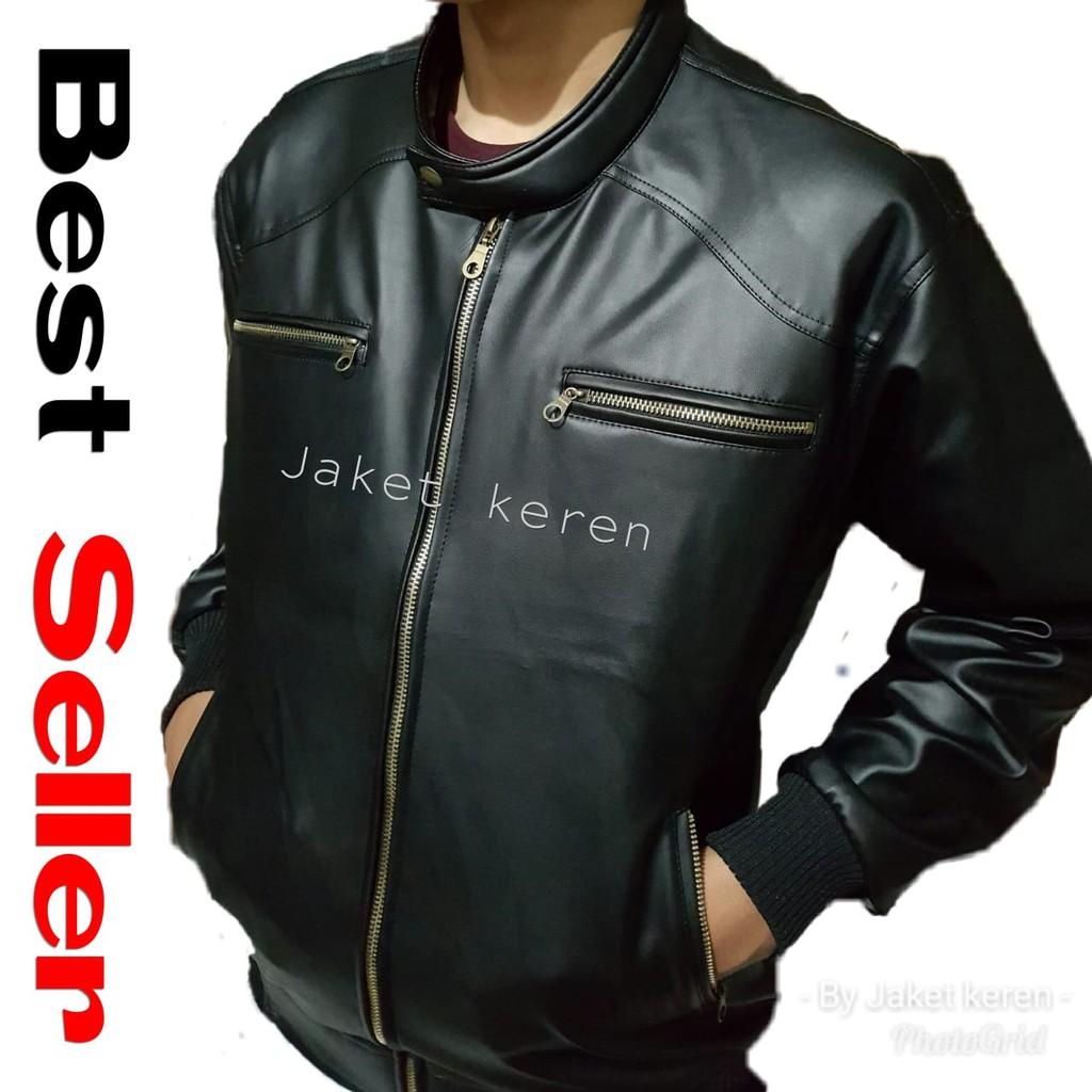 Jaket pria TERLARIS jaket motor cowok laki-laki semi kulit Racing touring  Model Terbaru keren murah  235542b7a6