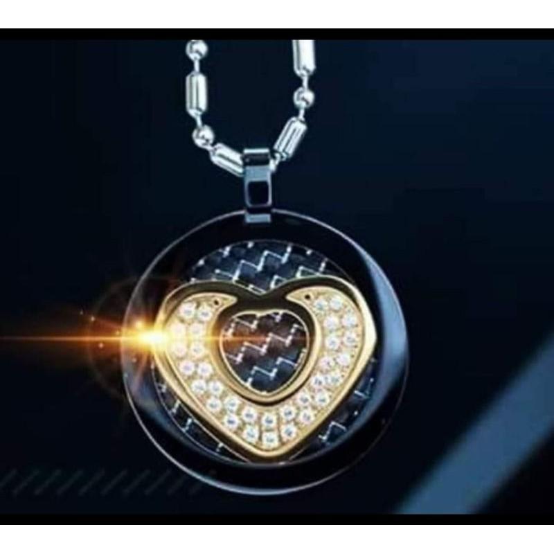 [TERBARU] Kalung mci | Kalung Aura Heart Black Diamond | kalung Aura black Cristal | bioglass