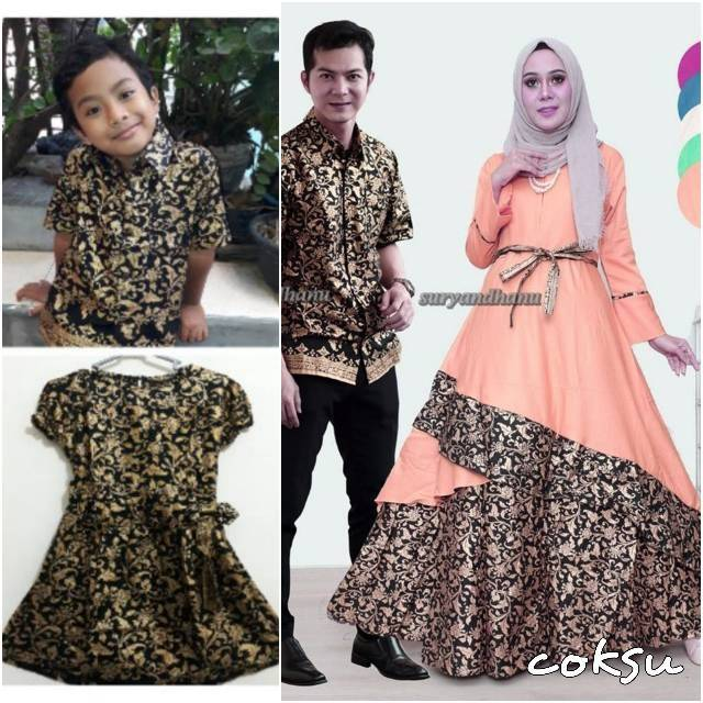 PO JUMBO Couple batik sarimbit gamis XXXL XXXXL pesta pasangan seragam Sarimbit 713 | Shopee Indonesia