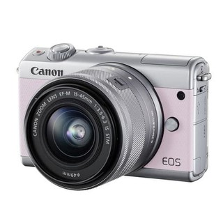 Canon Camera Mirrorless EOS M100 Pink with EF-M15-45mm