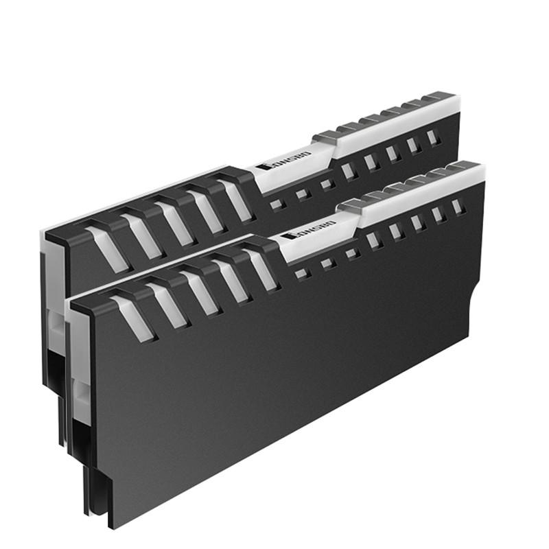 2pcs Memory Heatsink Motherboard AURA Cooling Vest RGB 256 Color Light Radiator