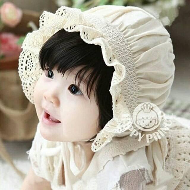 (Babyqueensha) Topi bayi topi anak topi bayi import baby hat topi bayi noni top  bonnet topi noni  501c7c0246