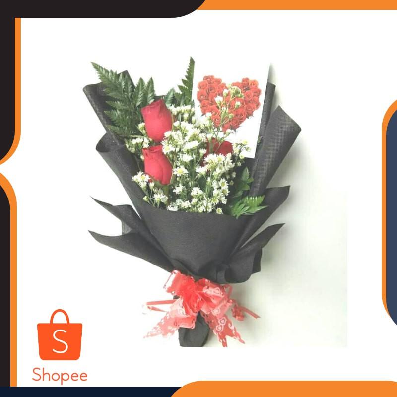 Terlaris Hand Bouquet Buket Bunga Bucket Wisuda Bunga Mawar Asli Keren Shopee Indonesia
