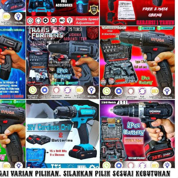 ➬ Mesin Bor Portable / Bor Cas / Bor Mini / Bor Obeng / Cordless / Screwdriver ☇