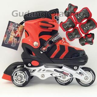 PROMO    Sepatu Roda BAJAJ + Deker   Pelindung Inline Skate Satu Set 73abbff0e9